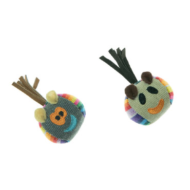 BALL IN FABRIC COLOURFUL FABRIC WITH FACE-0