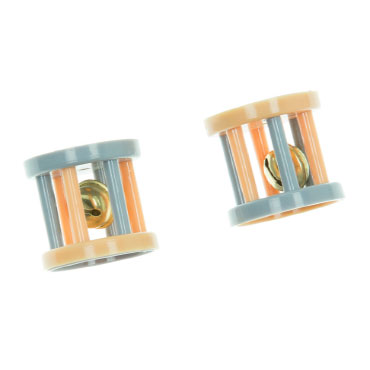SET OF 2 PLASTIC WHELLS WITH BELL-0